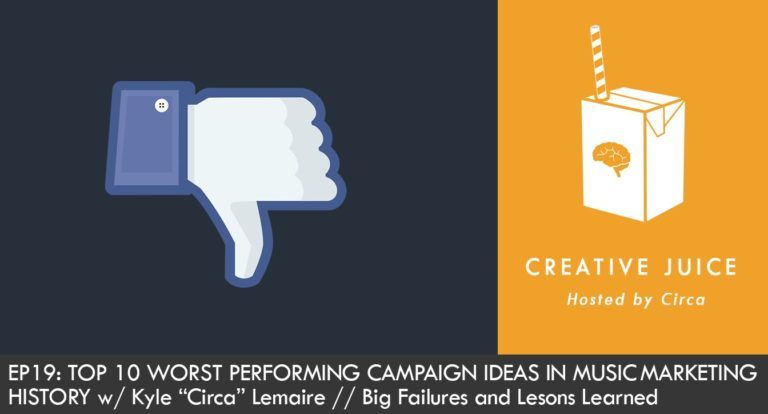 Music Marketing, Indepreneur Podcast, Creative Juice Podcast, Music Sales, Album Sales, Direct Response Marketing, Bad Marketing Campaigns