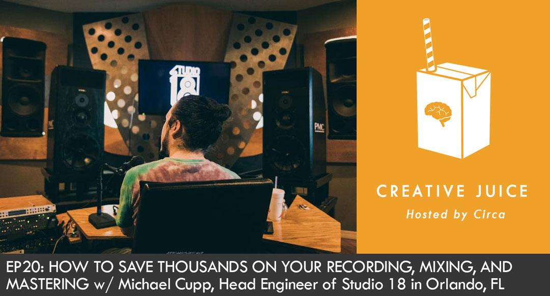 Indepreneur Podcast, Creative Juice Podcast, Indepreneur, Music Marketing, Music Success, Music Engineering, Mixing and Mastering, Studio 18